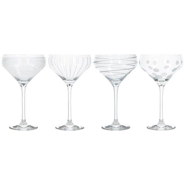 Mikasa Cheers Set Of 4 Champagne Saucers