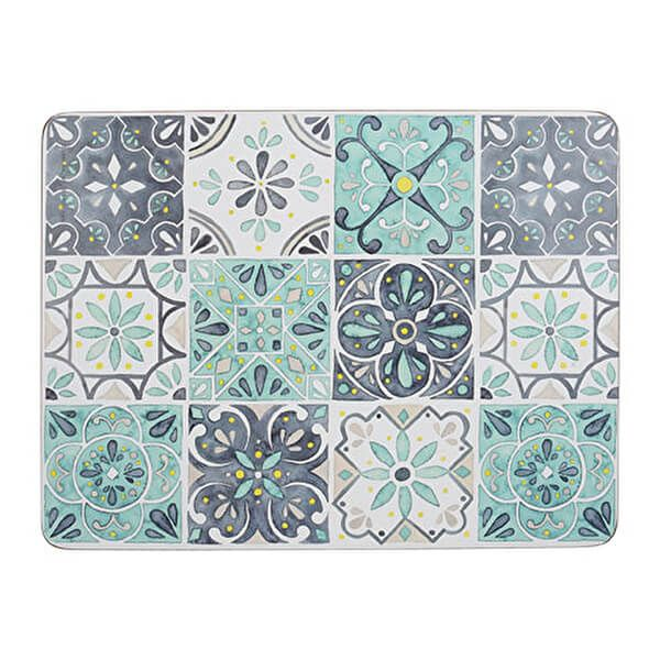 Creative Tops Green Tile Pack Of 6 Placemats