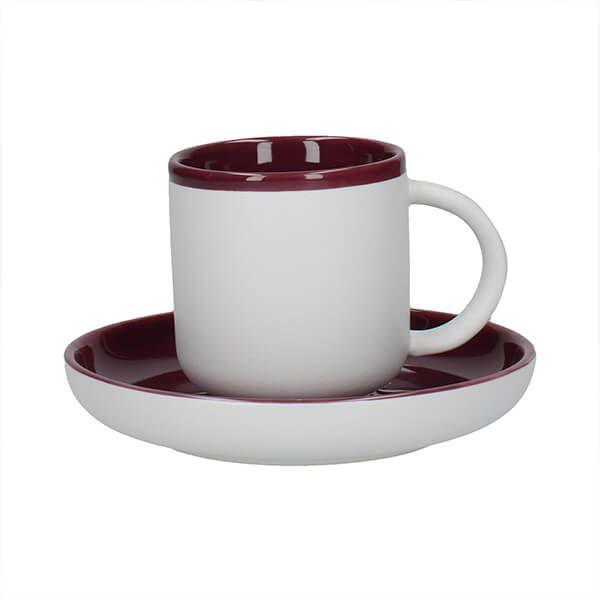 La Cafetiere Barcelona 130ml Espresso Cup & Saucer Plum