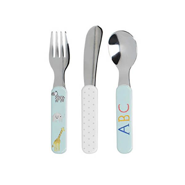 Creative Tops Alphabet 3 Piece Kids Cutlery Set With Stainless Steel Heads