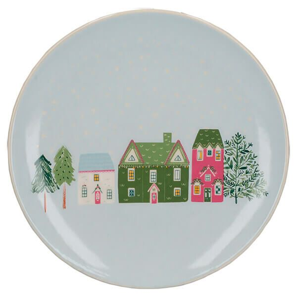 The Nutcracker Collection Christmas Houses Canape Plate