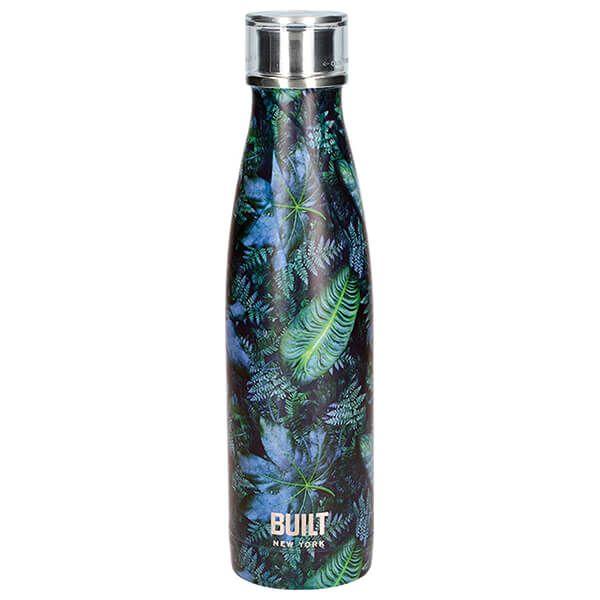 Built 500ml Double Walled Stainless Steel Water Bottle Dark Tropics