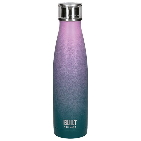 Built 500ml Double Walled Stainless Steel Water Bottle Pink & Blue Ombre