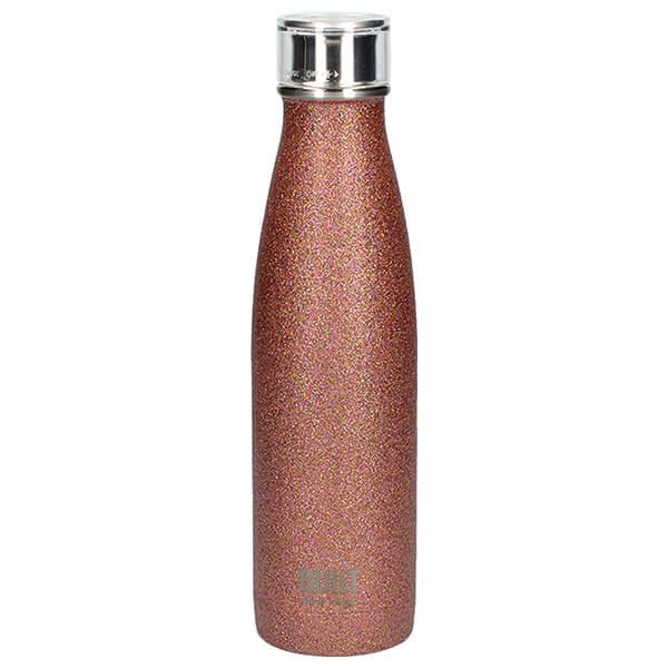 Built 500ml Double Walled Stainless Steel Water Bottle Rose Glitter