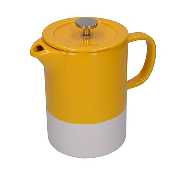 La Cafetiere Barcelona Mustard 6 Cup Cafetiere