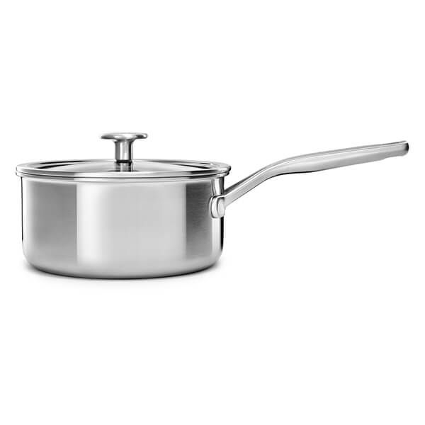 KitchenAid MultiPly Stainless Steel 3ply 18cm Saucepan with Lid