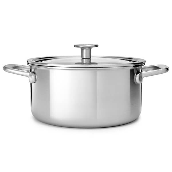 KitchenAid MultiPly Stainless Steel 3ply 24cm Casserole with Lid
