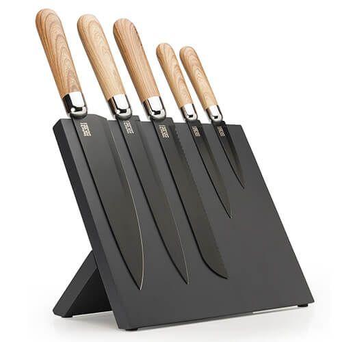 Taylors Eye Witness 5 Piece Magnetic Knife Block Set