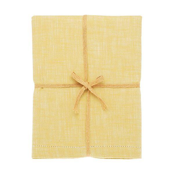 Walton & Co Saffron Chambray Tablecloth 130x180cm