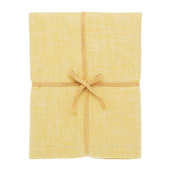 Walton & Co Saffron Chambray Tablecloth 130x230cm