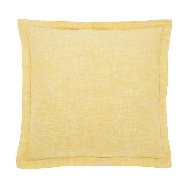 Walton & Co Saffron Chambray Wide Flange Cushion