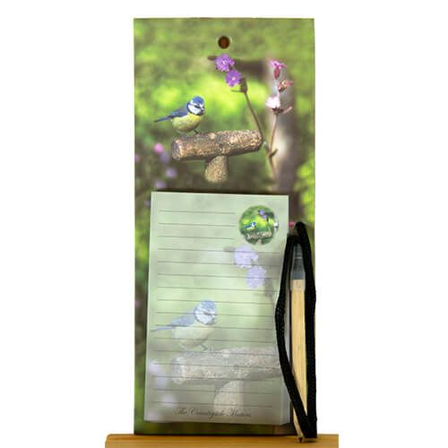 Country Matters Garden Blue Tit Magnetic Notebook
