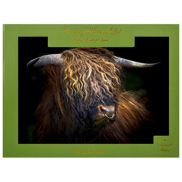 Country Matters Highland Bull Glass Worktop Saver