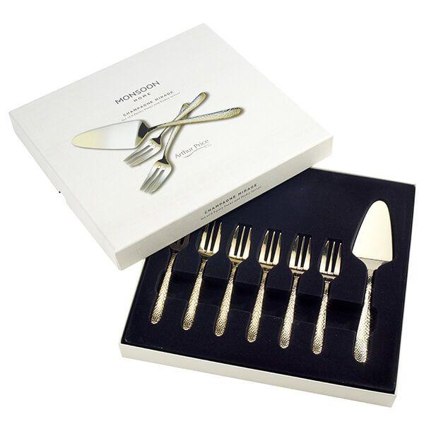 Arthur Price Monsoon Champagne Mirage Pastry Set