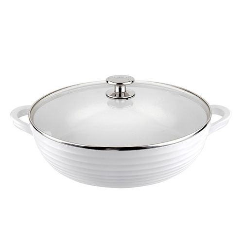 Sophie Conran White 30cm Shallow Casserole and Lid