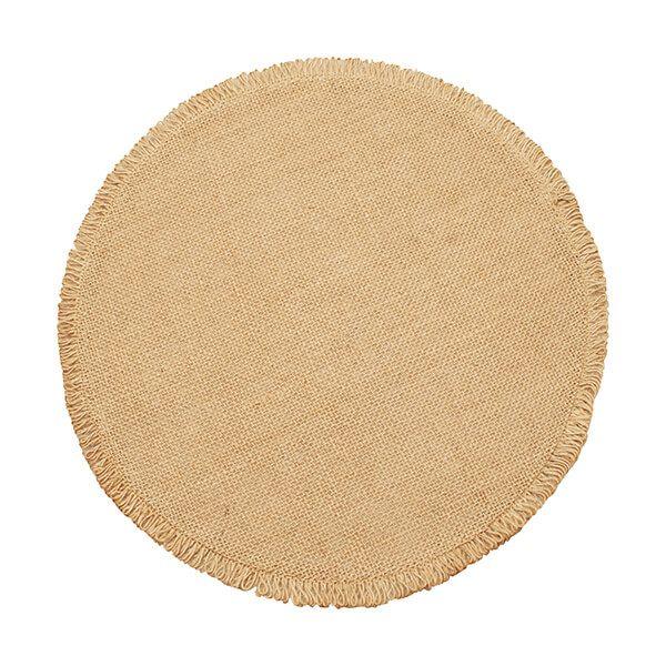 Walton & Co Circular Jute Placemat Natural