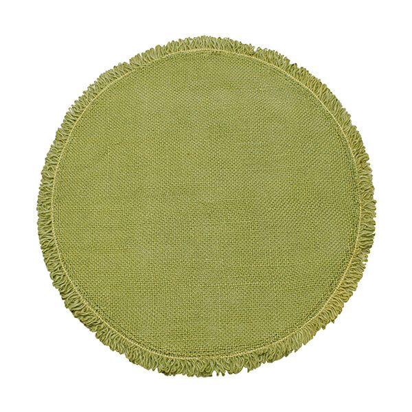 Walton & Co Circular Jute Placemat Olive