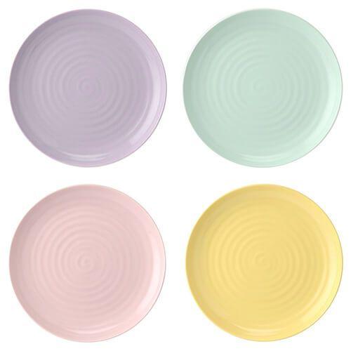 Sophie Conran Colour Pop Set Of 4 Coupe Plates Assorted Colours 10.5
