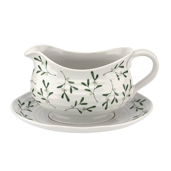 Sophie Conran Mistletoe Gravy Boat and Stand