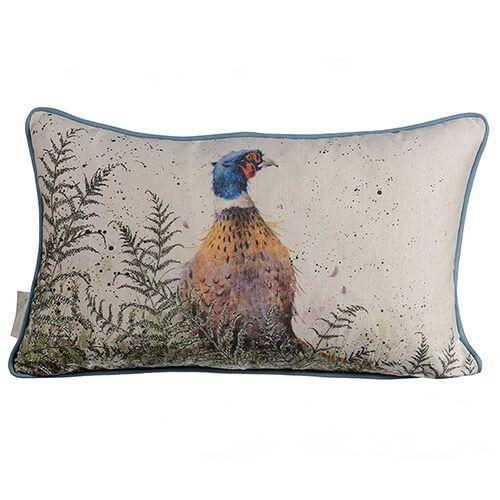 Wrendale Pheasant And Fern Rectangular Cushion