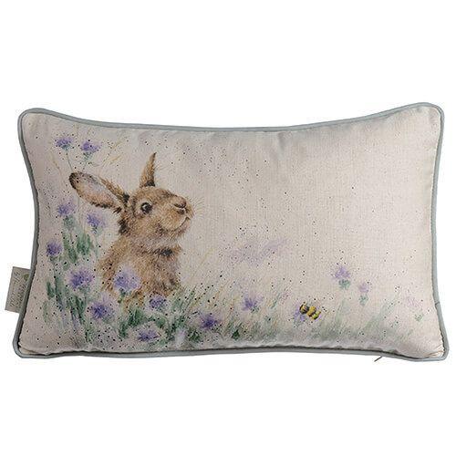 Wrendale Meadow Rabbit Rectangular Cushion