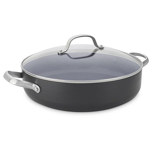 GreenPan Venice Pro Hard Anodised Ceramic Non-Stick 30cm Shallow Casserole With Lid