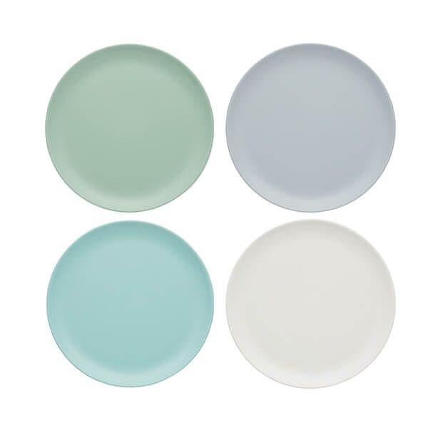 Colourworks Classics Set of Four 23cm Melamine Salad Plates