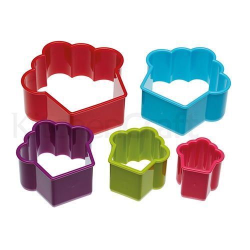 Colourworks Set of 5 Cupcake Shaped Cookie / Pastry Cutters