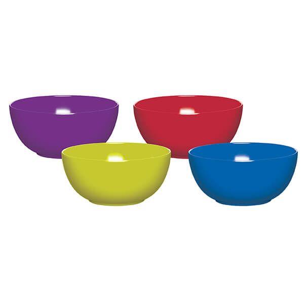 Colourworks Set of Four 15cm Melamine Bowls