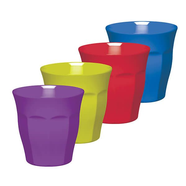 Colourworks Set of Four 225ml Melamine Tumblers