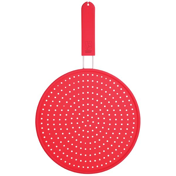 Colourworks Red Silicone 28cm Splatter Screen