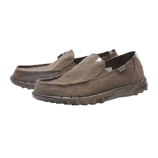 Dude Shoes Farty Chocolate Roughcut Canvas