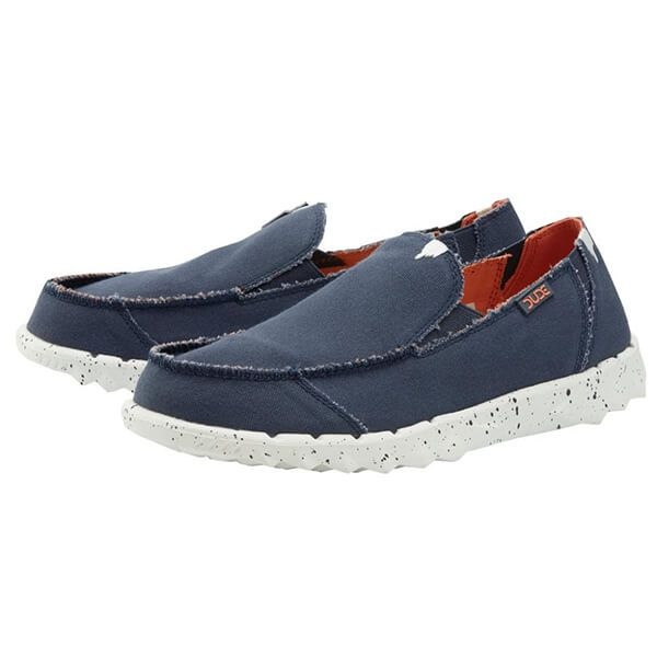 Dude Shoes Farty Funky Canvas Navy Orange