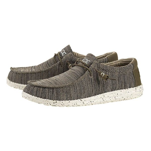 Dude Shoes Wally Sox Brown Textile