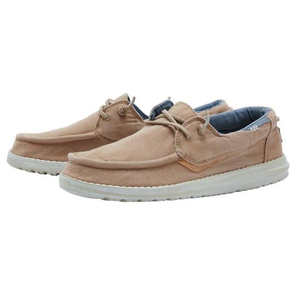 Dude Shoes Walsh Washed Canvas Tobacco