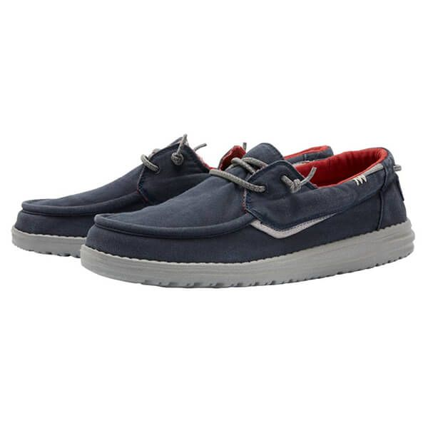 Dude Shoes Walsh Washed Canvas Navy