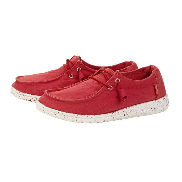 Dude Shoes Wendy Coral Washed Canvas