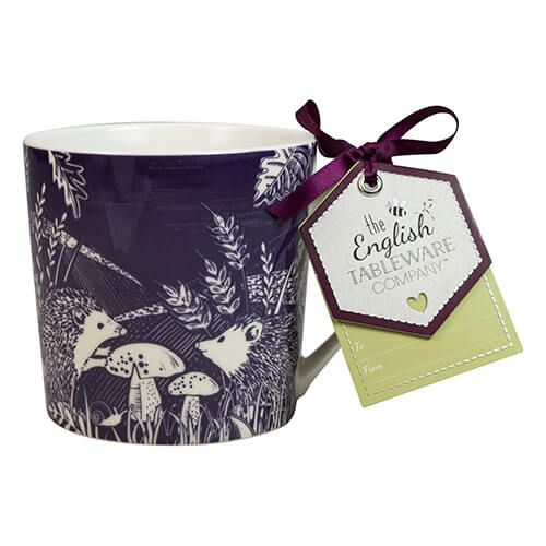 English Tableware Company Artisan Fine China Blackcurrant Hedgehog Mug