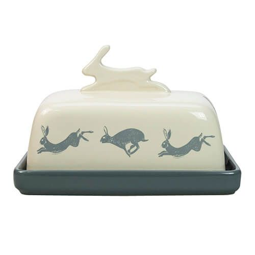 English Tableware Company Artisan Hare Butter Dish