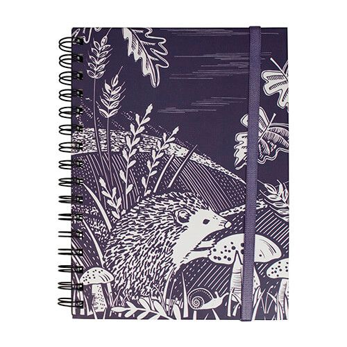 English Tableware Company Artisan Blackcurrant Hedgehog Notebook