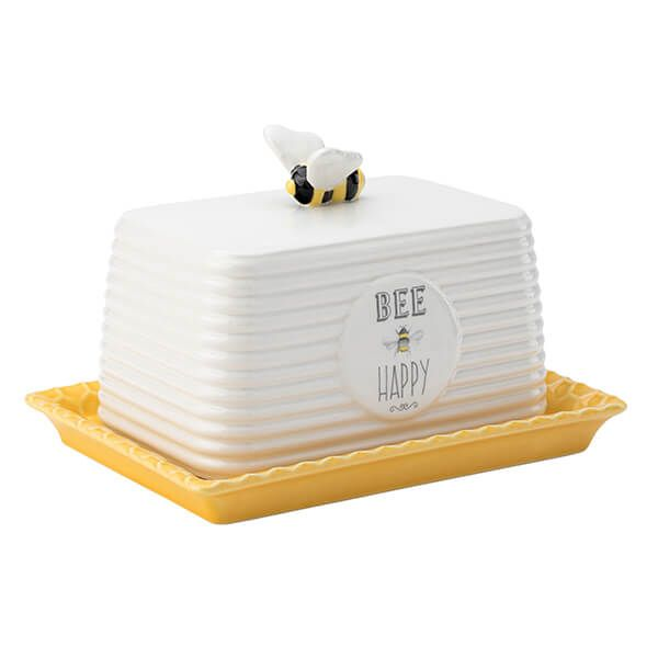 English Tableware Company Bee Happy Butter Dish Dd0917a01 Harts Of Stur