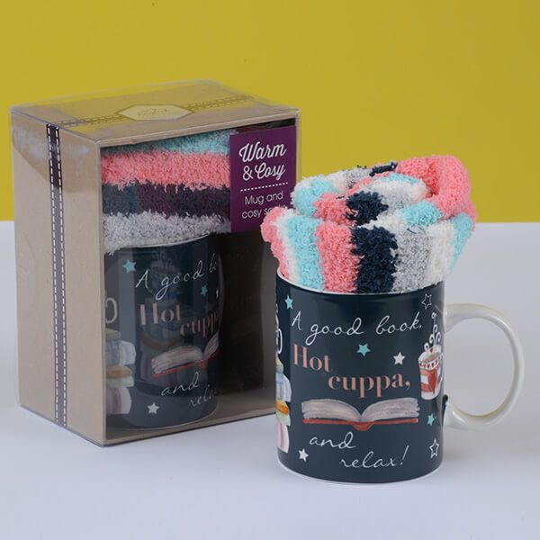 English Tableware Company Hot Cuppa Mug & Sock Set