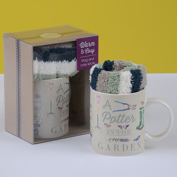English Tableware Company A Potter in the Garden Mug & Sock Set