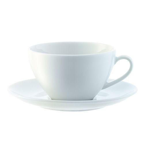 LSA Dine Tea/Coffee Cup & Saucer Curved 0.22L Set Of 4