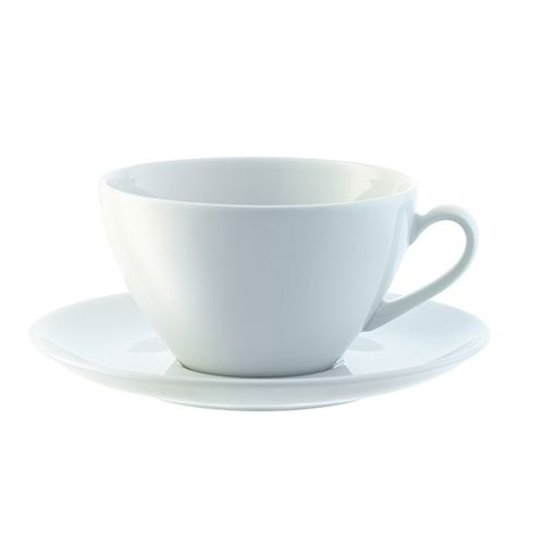 LSA Dine Cappuccino Cup & Saucer Curved 0.35L Set Of 4