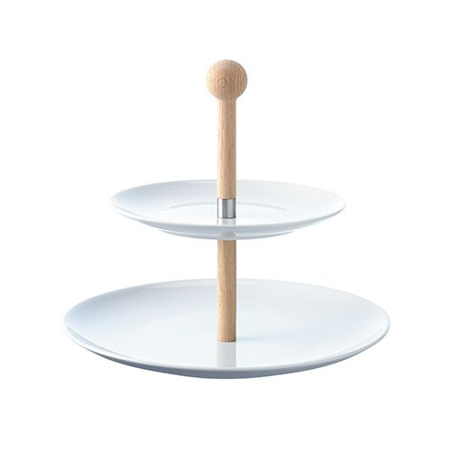 LSA Dine Tiered Cakestand with Oak Stem