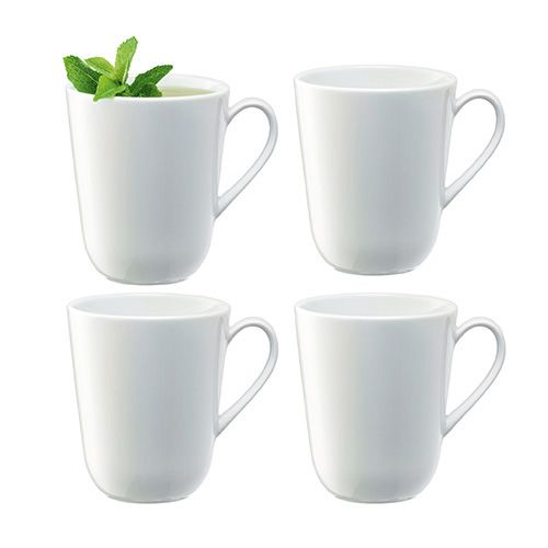 LSA Dine Curved Mug 380ml Set Of 4