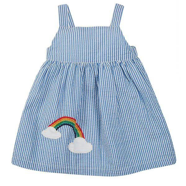 Frugi Organic Cobolt Stripe/Rainbow Alma Summer Dress