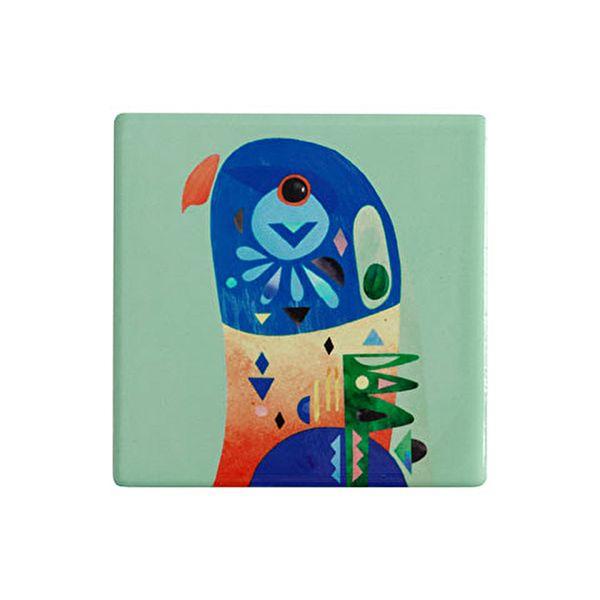 Maxwell & Williams Pete Cromer Ceramic Square 9.5cm Coaster Lorikeet