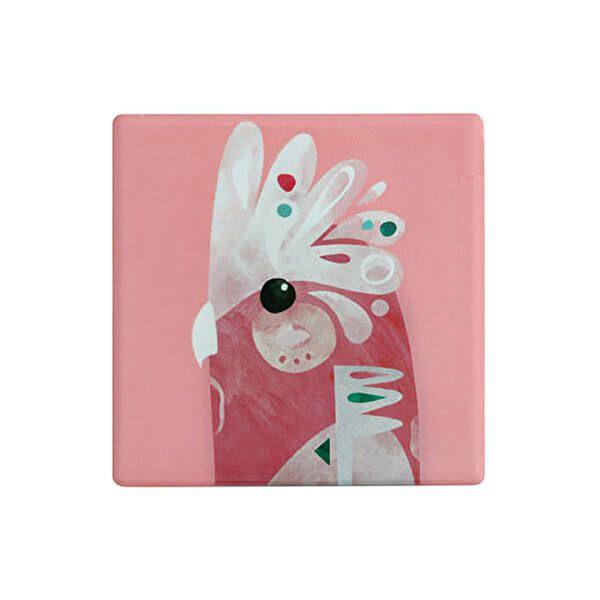 Maxwell & Williams Pete Cromer Ceramic Square 9.5cm Coaster Galah